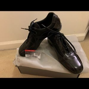 Prada sporty leather shoes